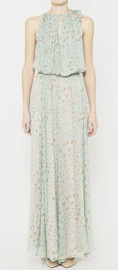 By Malene Birger Grey, Aqua And Orange Dress