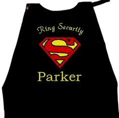 Items similar to Super Hero Ring Bearer Cape, Embroidered Ring Bearer Cape Personalized Wedding Photo Op on Etsy Superman Wedding, Marvel Wedding, Wedding Tux, Our Wedding, Dream Wedding, Wonder Woman Wedding, Tux Colors, Superman Cape, Capes For Kids