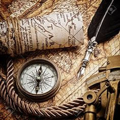 25778653-vintage-still-life-with-compass-sextant-and-old-map-Stock-Photo.jpg (1300×1300)