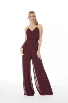 Morilee 21690 Bridesmaid Jumpsuit with Pockets Mori Lee Bridesmaid, Bridesmaid Dress Styles, Bridesmaid Outfit, Brides And Bridesmaids, Bridesmaid Jumpsuits, French Lilac, Christina Wu, S Girls, Fashion Forward