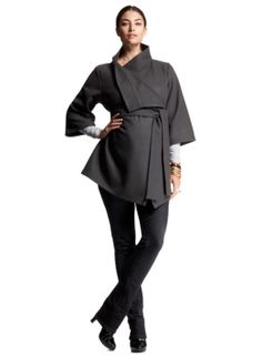 Isabella Oliver Belted Wrap Jacket. Comfortable and versatile. #maternity