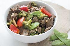 Roerbak met roccoli en rundvlees