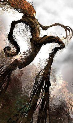 Something of a take on Treebeard I think. Very Tim Burton, but I like it.