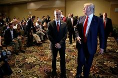 Trump touts his loyalty in defending campaign manager