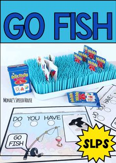 go fish in speech therapy Speech Therapy Autism, Preschool Speech Therapy, Speech Language Therapy, Speech Therapy Activities, Language Activities, Speech And Language, Shape Activities, Speech Pathology, Apps