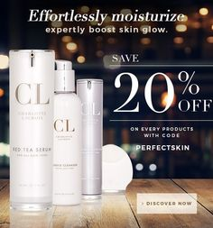 BIG Savings NOW. 20%OFF on all the products. Use code: PERFECTSKIN Time to Preserve Your Youthful Skin. http://bit.ly/1UToCJu #getthedeal #savingsforyou #freshskin #perfectmoisturize #beauty #skincare #gohealthy #skindiet #allday #youthfulskin #beautyexperts #gonatural #glow #happy #shine #charlottelacroix