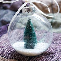 DIY Snow Globe Ornament: Super quick, easy, and affordable Christmas ornament that captures the beauty of winter snow.