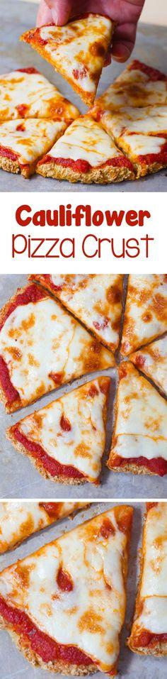 The BEST Cauliflower Pizza Crust Recipe