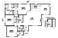 Murray Floorplan of American Lifestyle Collection - Modular Home - All American Homes