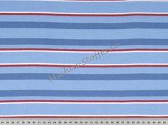 Sanetta Streifen-Jersey hellblau-jeansblau(weiß,rot)
