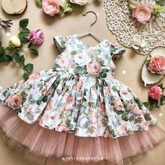 Cotton dress of white flower print with tulle birthday girl outfit, girls easter dress, summer dress, newborn outfit - Kids frock Girls Easter Dresses, Little Girl Dresses, Girls Dresses, Flower Girl Dresses, Baby Dresses, Dress Girl, Frock Design, Baby Dress Design, Baby Frocks Designs