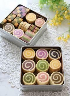 Cookie Box, Cookie Gifts, Sable Cookies, Biscuits, Icebox Cookies, Christmas Cookies Gift, Cute Baking, Dessert Boxes, Cute Snacks