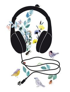 blooming headphones
