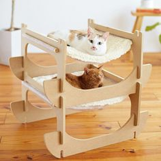 Some of the best cat beds and cat houses for the most cat fun and cat sleep. The nicest cat stuff and the best stuff for cats. These cute cats deserve nice cat beds Cat Room, Pet Furniture, Cat Accessories, Cat Sleeping, Cat Supplies, Cat Tree, Dog Houses, Diy Stuffed Animals, Cool Cats