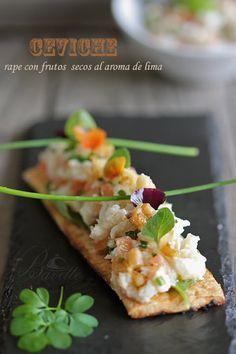 Ceviche de rape con frutos secos al aroma de limaBavette   Bavette