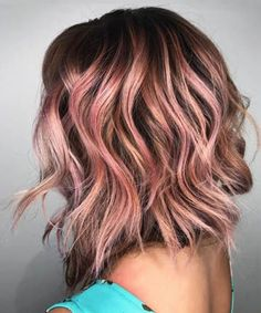 Incandescent Rose Gold Highlights: Hairstylist Shelley Gregory explained via Instagram that she achieved this hair color by first using a babylight foil, then toning with a demi-permanent color, and finally, layering on a dilution of Pravana Chromasilk Vivids in pink, $9, mixed with Olaplex No. 2, $30