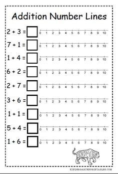 Number Line addition worksheets free printables  number line addition worksheets Numbers Kindergarten, Math Numbers, Kindergarten Age, Kindergarten Math Worksheets, Teaching Math, Teaching Geography, 1st Grade Worksheets, Line Math, Free Printable Worksheets