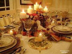 en mesa de navidad