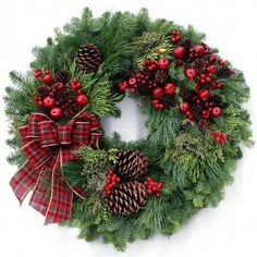 ARE FRESH CHRISTMAS WREATHS FOR YOU?Potential customers who have never actually seen one of our fresh holiday wreaths might find it helpful to know that the entire process of creating, decorating and shipping each fresh Christmas wreath is. Decorations Christmas, Christmas Door Wreaths, Holiday Wreaths, Christmas Crafts, Christmas Ornaments, Holiday Decor, Christmas Trees, Burlap Christmas, Christmas Snowman