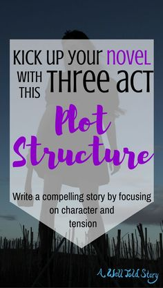 Here is a three-act character and tension based plot structure for your novel. Raise the stakes as you write and keep your readers turning the pages!