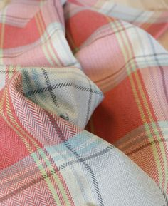 In stock: the prettiest herringbone plaid i've seen in a while. Carpet Ride in Radish by PK Lifestyles.