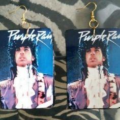Prince purple earrings Handdesigned Jewelry Earrings