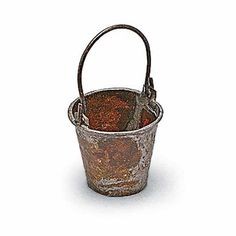 ANTIQUED GARDENING BUCKET - Miniature Expressions
