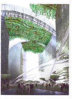 Hanging Canopies, Dubai | Vertical Garden Patrick Blanc