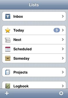 THINGS - to do organisation app for mac, iPhone and iPad