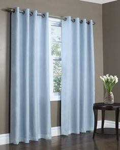 Ricardo Trading Ultimate Blackout Grommet Top Panel Blue Curtains, Grommet Curtains, Colorful Curtains, Sheer Curtains, Blackout Curtains, Window Curtains, Valances, Bedroom Curtains, Drapery