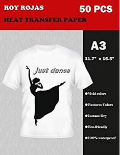 63a657fa Roy Iron On Transfer Paper 100 Sheets for Light Color T-Shirt, x Heat Transfer  Paper for White or Light Colored Cotton Fabric T Shirts, Compatible with  All ...
