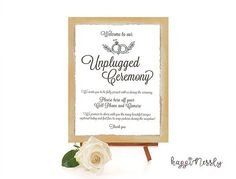 """subtle way to tell your guests """"no photos pls"""" Wedding Signs, Wedding Ceremony, Just Married, Signage, Place Card Holders, Invitations, Handmade Gifts, Photos, Etsy"""