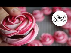 ROSE MERINGUE COOKIES WITH CHOCOLATE GANACHE - The Scran Line - YouTube