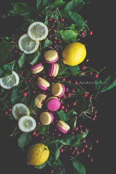 Macarons de cereza y limón - Bake-Street.com