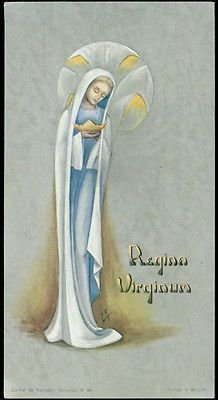 old holy card***REGINA VIRGINUM