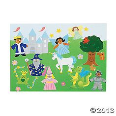 12 DIY Fairy Tale Sticker Scenes - $12 for 5 kits.  Good for take home gift bag.