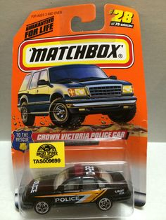 Matchbox - Crown Victoria Police Car #28 of 75 This item is NOT in Mint Condition and is in no way being described as Mint or even Near Mint. Our toys have not always lead the perfect life, nor have t