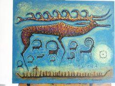 Alexey Ulturgashev'in çizimleri Deer Art, Family Roots, Samoyed, Gods And Goddesses, Native American Art, Glyphs, Rock Art, Painted Rocks, Nativity