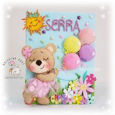 Foam Sheet Crafts, Foam Crafts, Diy And Crafts, Crafts For Kids, Fabric Dolls, Paper Dolls, Folder Decorado, File Decoration Ideas, Bear Felt
