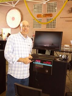 Marketing Director Andrew Stein and a demo version of Never Alone at IndieCade 2014. #neveralonegame #indiecade #losangeles #gaming