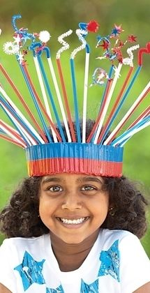 Straw & pipe-cleaner glory crown craft for kids