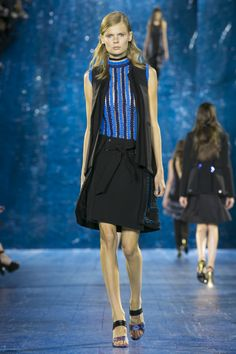 Look Sencia Gilet, Elastica Top & Pomeroy Skirt Rouched Fashion Brands, Fashion Show, Future Trends, Mary Katrantzou, Spring Summer 2016, Ny Times, Ready To Wear, Runway, London