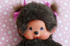 Collectible Vintage Monchhichi Doll Soft Toy Sekiguchi by VintageToysForAll on Etsy Doll Toys, Dolls, Star Cards, My Bubbles, Little Twin Stars, Dimples, Hello Kitty, Crochet Hats, Kawaii