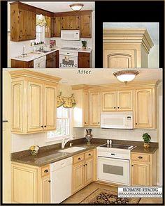 update cabinet dooradding molding | diy to try | pinterest