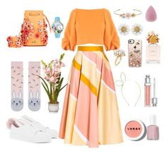 """""""Happy Easter!"""" by xenia-fashionista ❤ liked on Polyvore featuring Minna Parikka, Charlotte Russe, Accessorize, Roksanda, Marina Hoermanseder, TIBI, Whimsical Watches, Marc Jacobs, Christian Dior and Essie"""