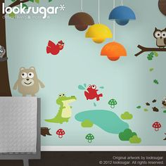 Children Wall Decals  Owl Tree Decal  Tree Wall by looksugar, $145.00