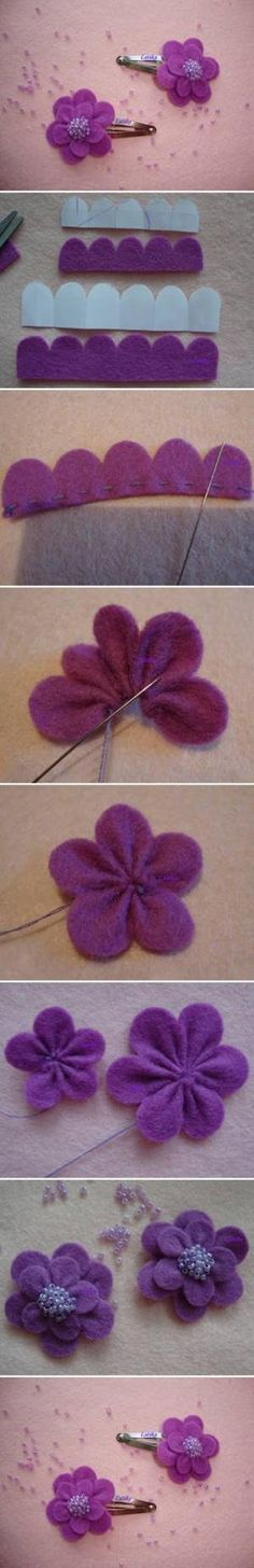 DIY Felt Morning Flower by britney
