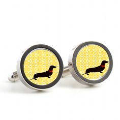 Dog Silhouette Cufflinks £30.00