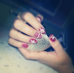 My Red Christmas Nails Art