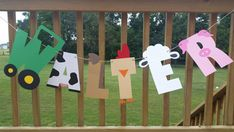 Farm Animal Name Birthday Banner Farm Animal by WiseWomanInvites